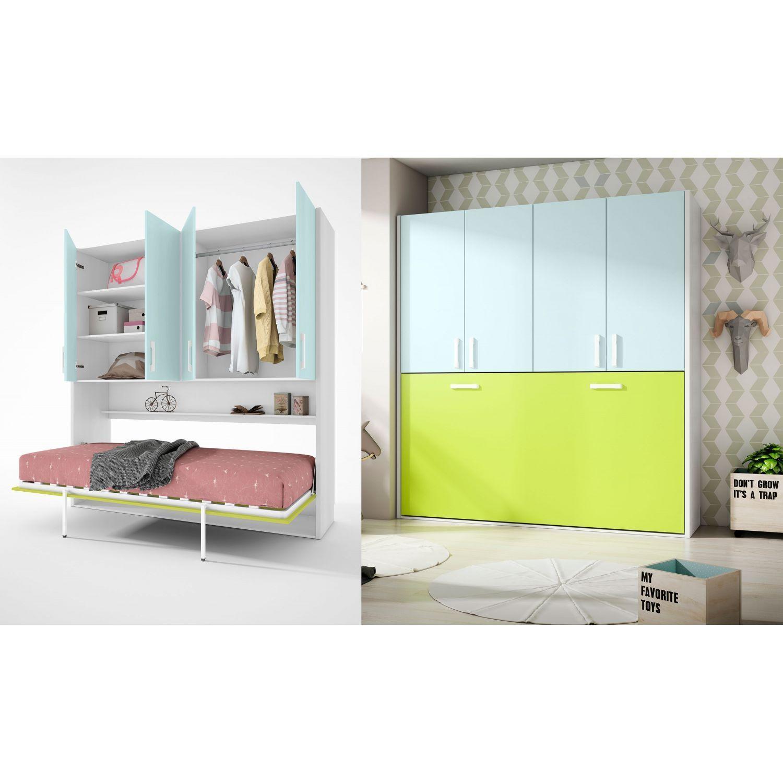 Cama abatible econ mica dise o moderno con armario 4 puertas - Armario cama abatible ...