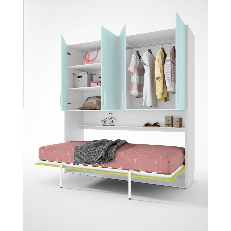 Cama abatible econ mica dise o moderno con armario 4 puertas - Disenos de camas juveniles ...