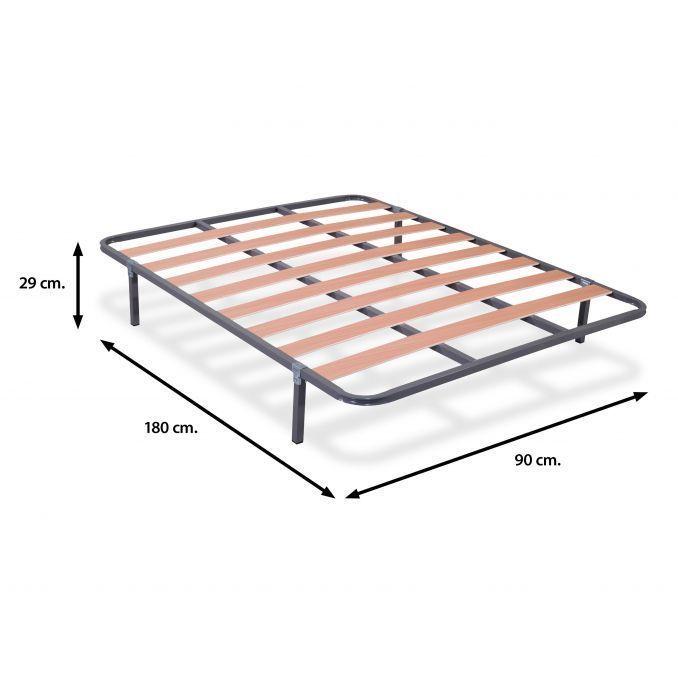 Somier 90x180 barato de láminas de madera (sin patas) | Ahorro Total