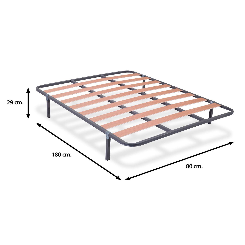 Somier 80x180 (con o sin patas) de láminas de madera | Ahorro Total