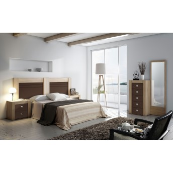 Dormitorio buen precio con cabecero y dos mesitas (Opcionales sinfonier y espejo)