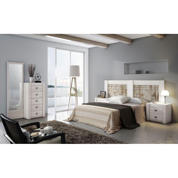 Dormitorio econ mico con cabecero y dos mesitas for Dormitorios ahorro total
