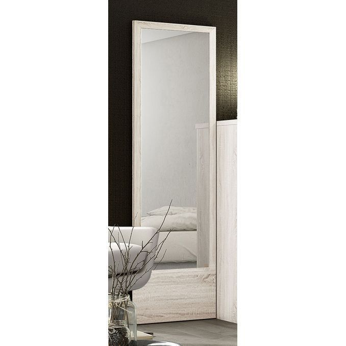 Espejo buen precio calidad color blanco nordic for Espejo envejecido precio
