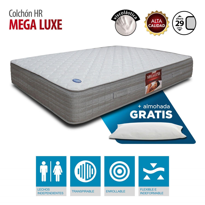 Colchón Viscoelástica Megaluxe 90x190 con almohada Gratis