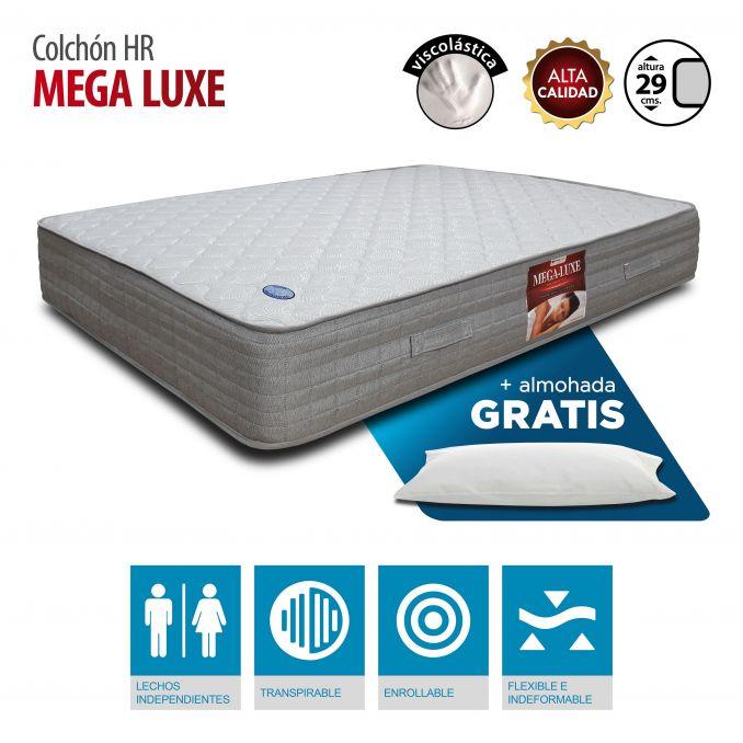 Colchón Viscoelástica Megaluxe 150x190 con almohada Gratis