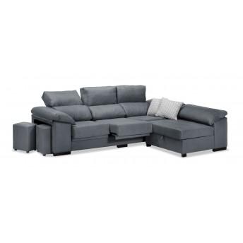 Sofá chaise longue Pepe marengo 270 cm.