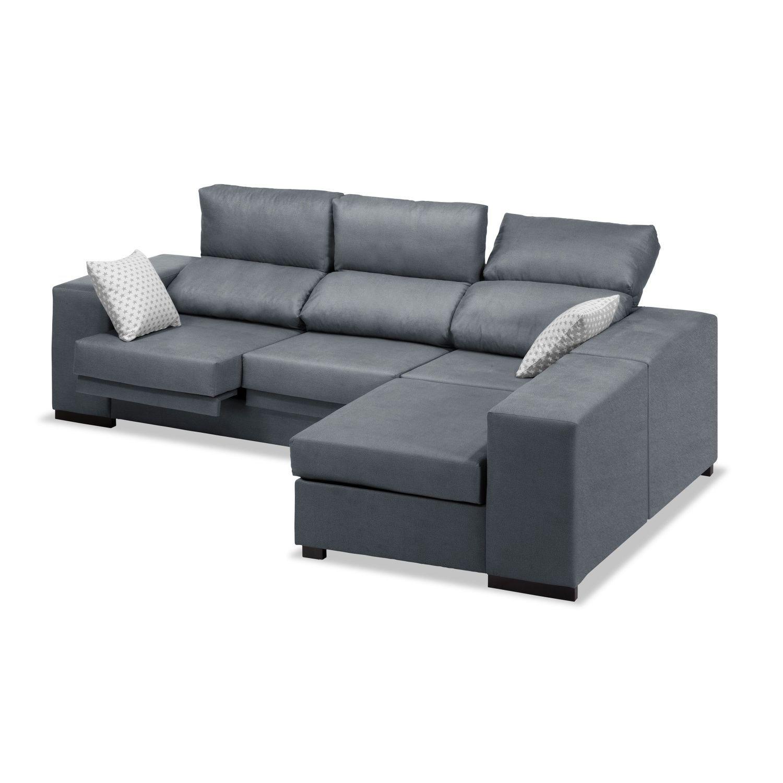 Sofá chaise longue reclinable extensible marengo 240 cm