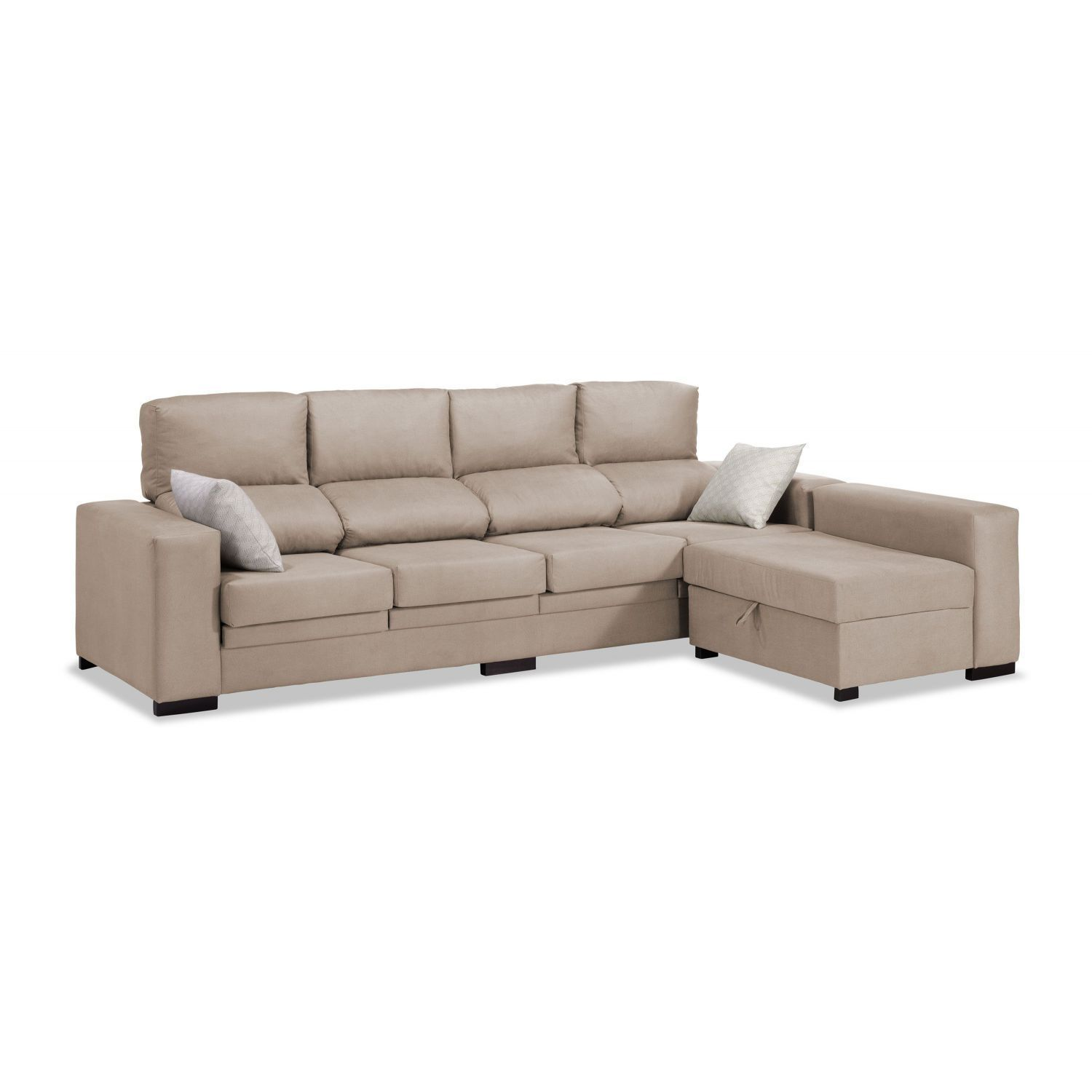 sof chaise longue 4 plazas beige reclinable extensible