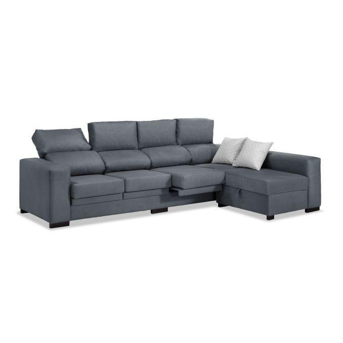 Sofá chaise longue 4 plazas marengo reclinable extensible 273 cm.
