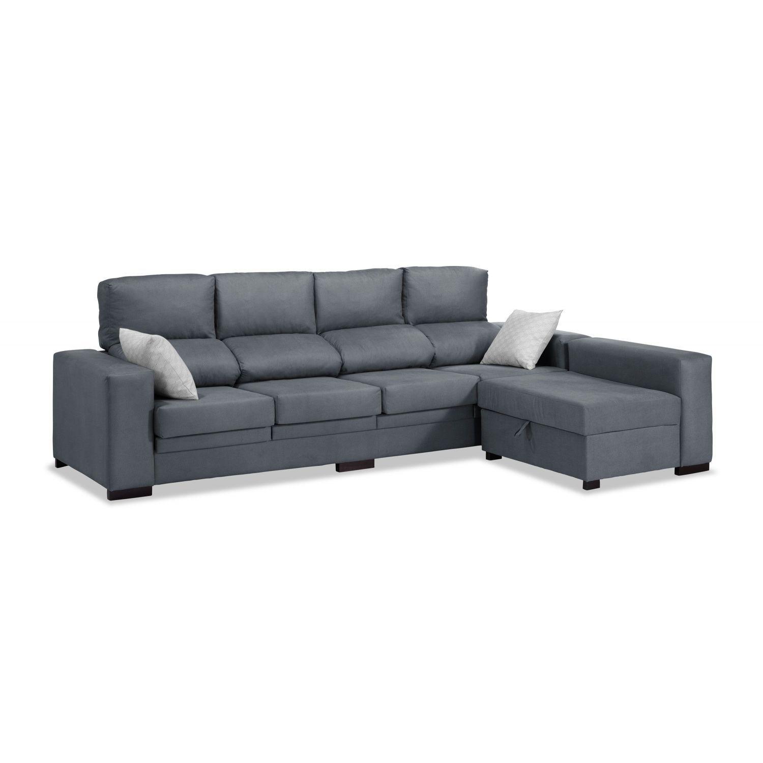 Sof chaise longue 4 plazas marengo 270 cm for Sofa 4 plazas mas chaise longue