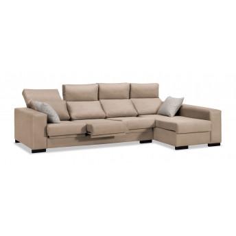 Sofá chaise longue Eko beige 273 cm.