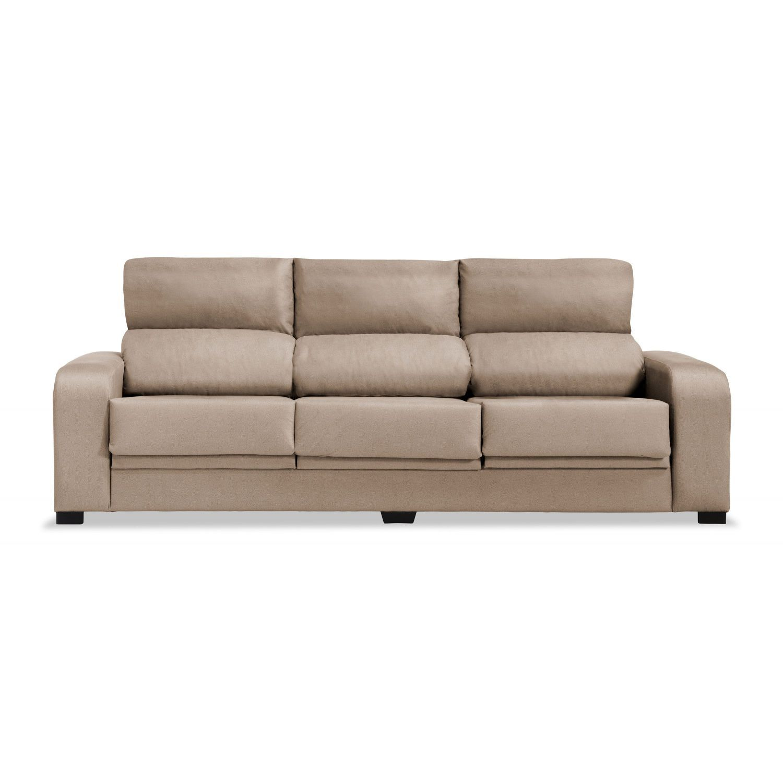 Sof 3 plazas london reclinable extensible desenfundable beige 220 cm - Sofa extensible ...