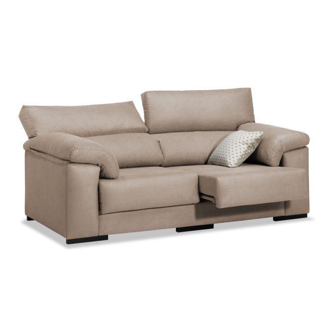 Sofá barato beige 3 plazas diseño actual 200 cm
