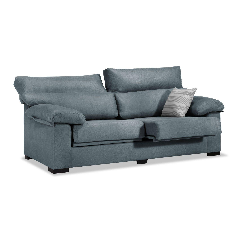 Sofá Lucena 3 plazas gris azulado 190 cm.