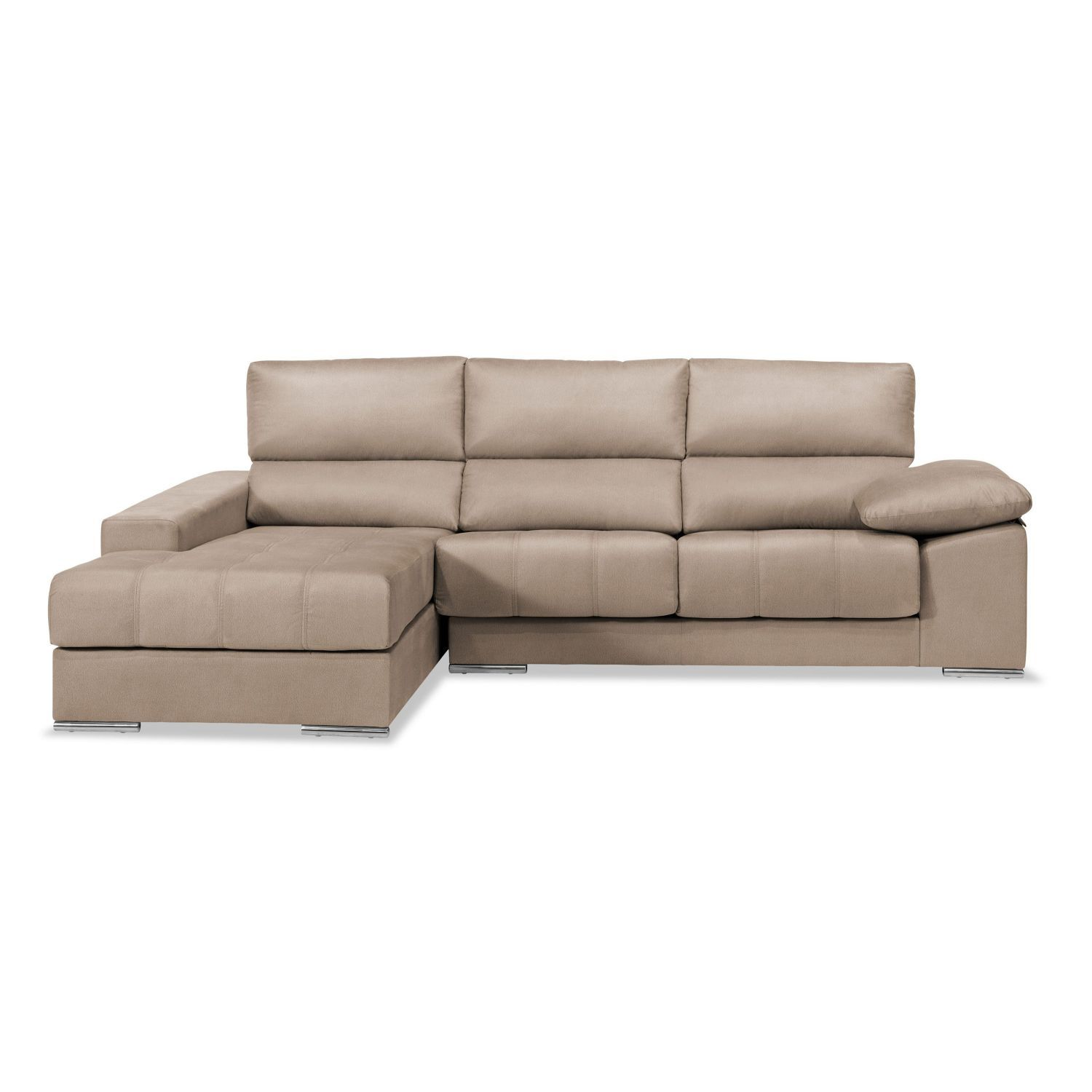 Sof chaise longue reclinable extensible beige - Sofa extensible ...