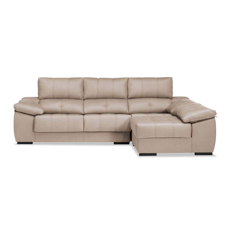 Sof chaiselongue beige reclinable extensible 270 cm - Sofa extensible ...