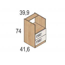 Dormitorio colores pino-blanco con compacta dos camas y cajones, armario y mesa estudio
