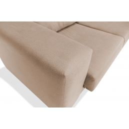 Sofá chaise longue beige 273 cm.