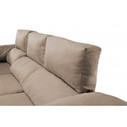 Sofá chaise longue Pepe beige reclinable extensible 240 cm.