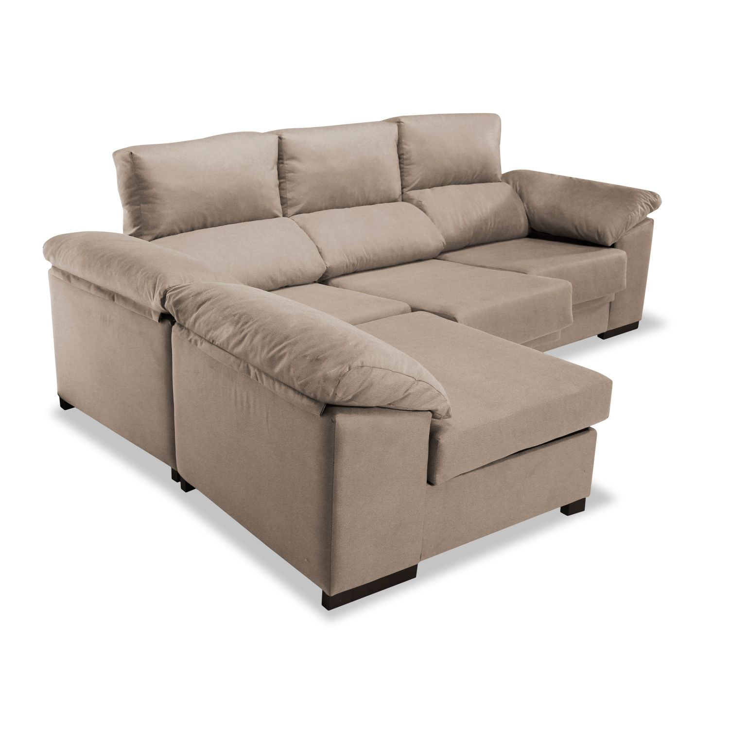 Sof chaise longue pepe beige reclinable extensible 240 cm - Sofa extensible ...