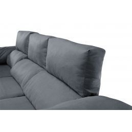 Sofá chaise longue Pepe marengo reclinable extensible 240 cm.