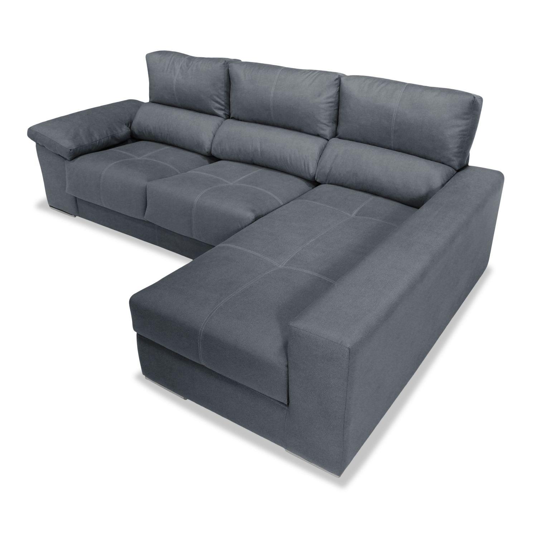 Sof chaise longue reclinable extensible marengo con 2 taburetes 280 - Sofa extensible ...