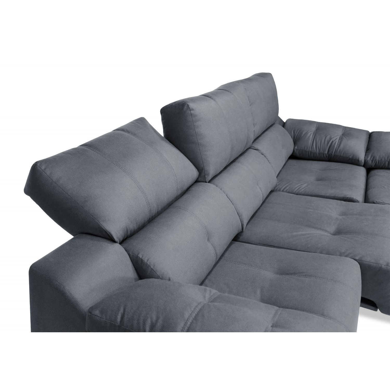 Sof chaiselongue marengo reclinable extensible 270cm - Sofa extensible ...