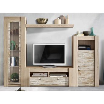Mueble de salón económico sable y vintage 272 cm