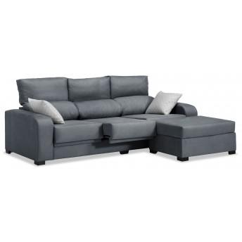 Sofá chaise longue London marengo reclinable extensible 220 cm.