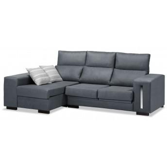 Sofá chaise longue Eko marengo reclinable extensible 228 cm.