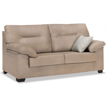 Sofá barato beige 3 plazas diseño actual 180 cm