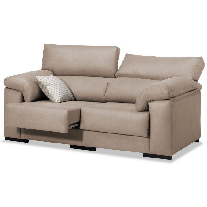 Sofá barato beige 2 plazas diseño actual 170 cm