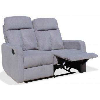 Sofá Ibiza 2 plazas con dos asientos relax gris claro