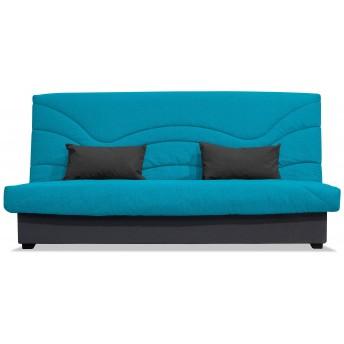 Sofá cama clic-clac barato loneta turquesa 190 cm
