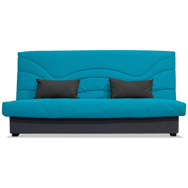 sof cama clic clac barato loneta turquesa 190 cm