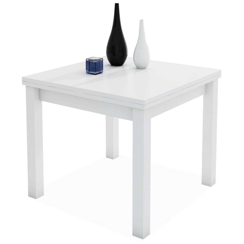 Mesa comedor extensible blanco 90 cm.