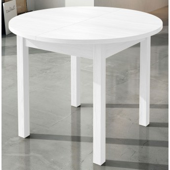 Mesa comedor extensible blanca 95 cm.