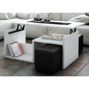Mesa de centro moderna (puf no incluidos) 101 cm Ancho moderno