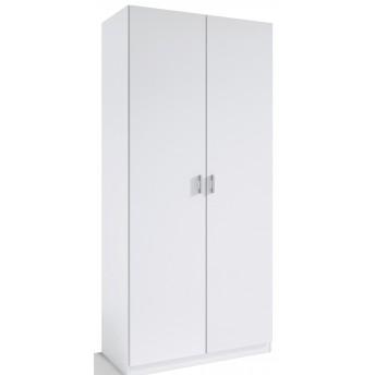 Armario 2 puertas abatibles barato color blanco 80 cm. de ancho.