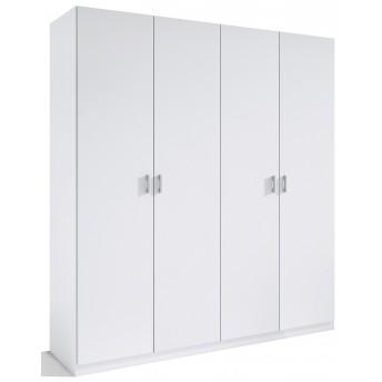 Armario 4 puertas abatibles barato color blanco 160 cm. de ancho.