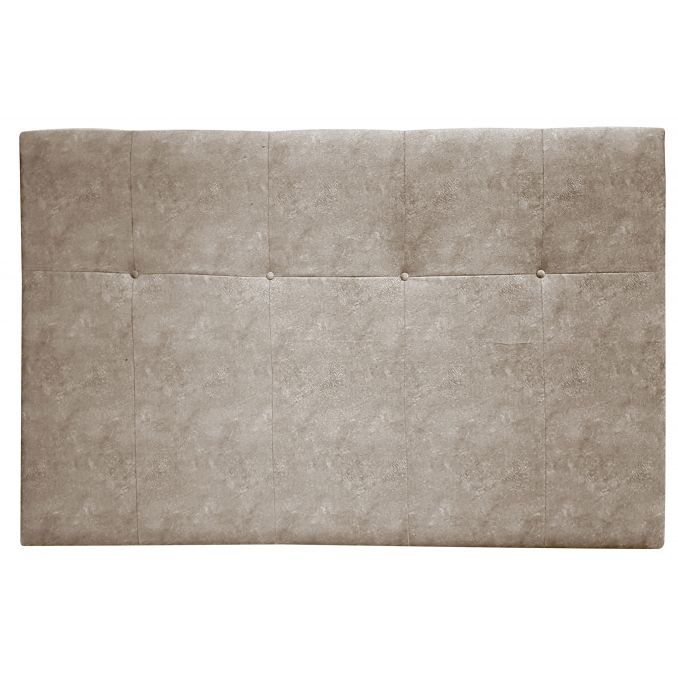 Cabecero dormitorio tapizado color beige oscuro 90/105 cm.