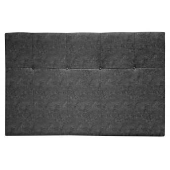 Cabecero dormitorio tapizado color gris 135/150 cm.
