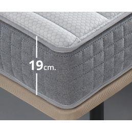 Conjunto canapé y colchón 150x190 Blanco Baltic
