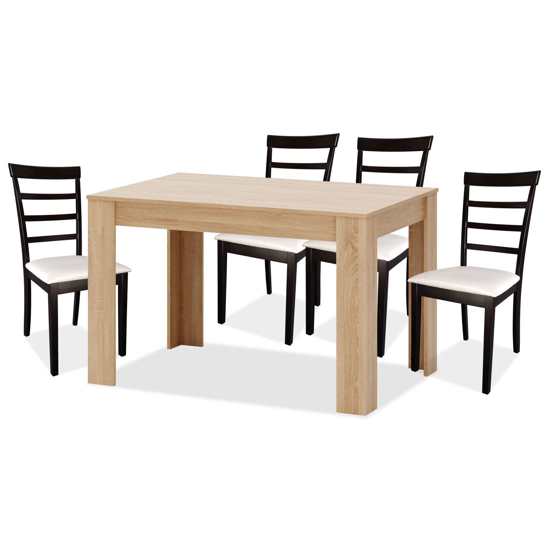 Conjunto mesa y sillas comedor 4 uds tahiel for Conjunto mesa extensible y sillas comedor