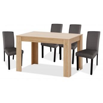 Conjunto mesa y sillas comedor (4 uds.) Zenda