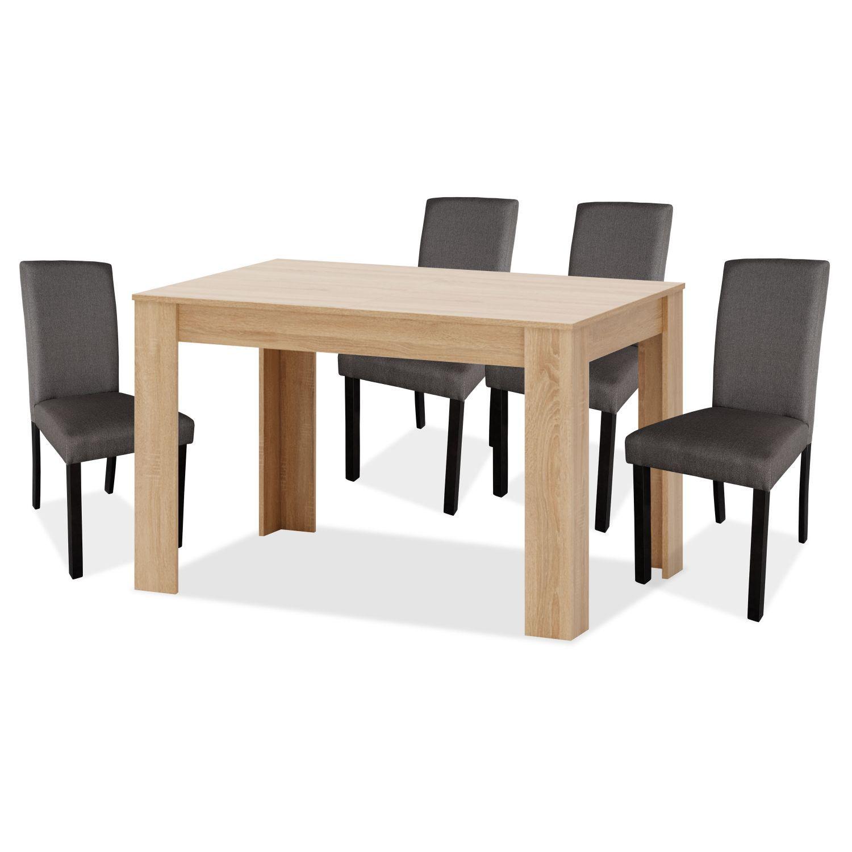 Conjunto mesa extensible y sillas 4 uds comedor zenda for Oferta mesa comedor extensible y sillas