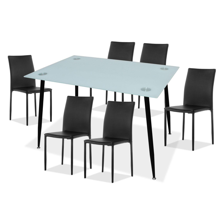 Conjunto mesa y sillas comedor (6 uds.) Calíope