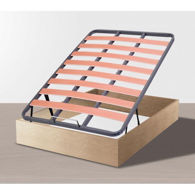 Canapé económico abatible láminas de madera 135x190