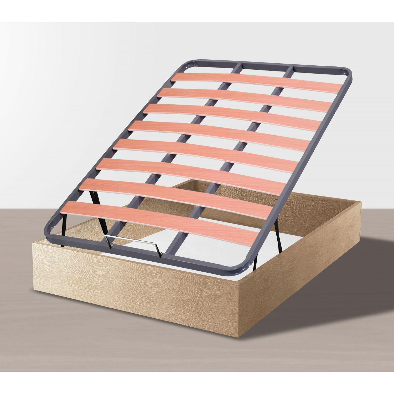 Canapé abatible 135x190 sonoma láminas madera