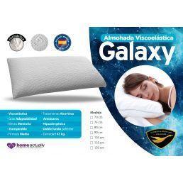Pack 2 almohadas viscoelástica Galaxy 75 cm.